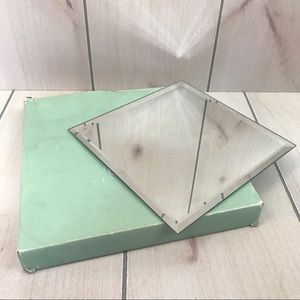 PartyLite Square Beveled Mirror Coaster